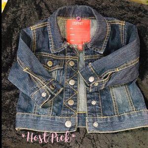 Esprit. Cute baby denim jacket 🦋 Size 6 months 🦋